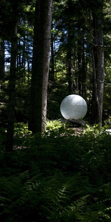 Coastal Maine Botanical Gardens: One of the many sculptures on the property