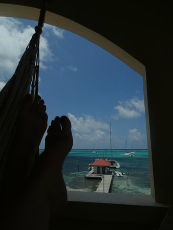 The Palms Oceanfront Suites: From my hammock - Room #32