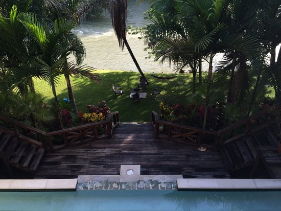 Mahogany Hall Boutique Resort : View from the second story balcony