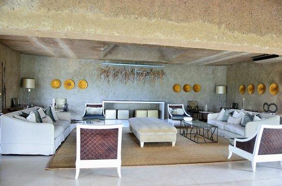 Sabi Sabi Earth Lodge : Le coin détente où est servi le goûter à 16h