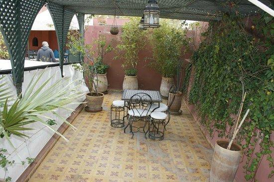 Riad Al Mamoune: roof terrace