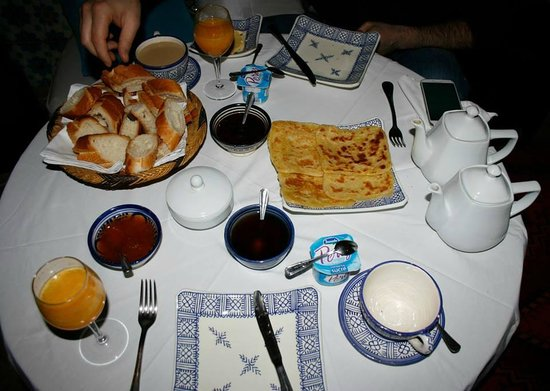 Riad Al Mamoune: breakfast was good - pancakes were best I've had