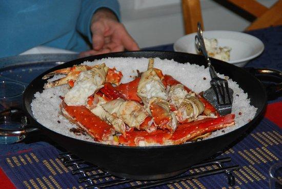 Kongsfjord Gjestehus: King Crab Dinner - Fantastic!!!