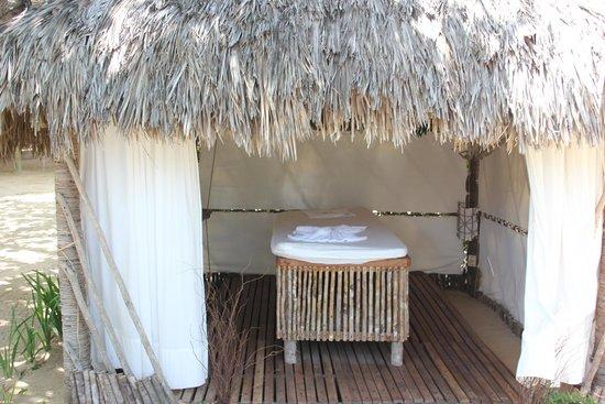 Vila Kalango : cabine de massage
