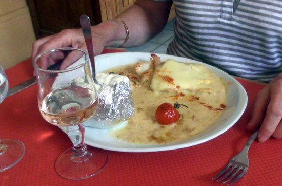 La Ferme des Janets: filled chicken
