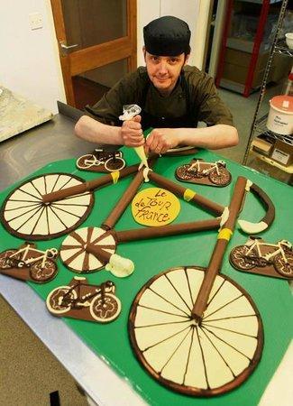 Inspired Chocolate: Chocolate bikes Tour De France