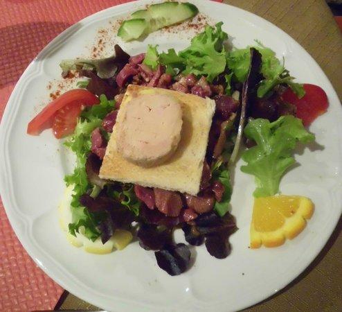 """La Ferme des Janets: Salat of """"fois gras"""""""