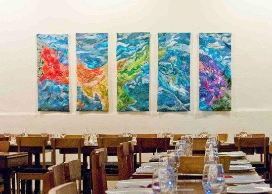 Barbara Rabkin Art Studio: ISTHMUS silk tapestry