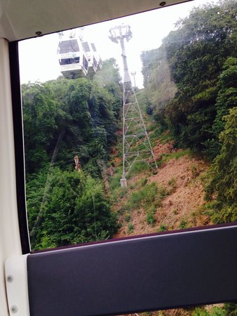 Heights of Abraham: In the cable car
