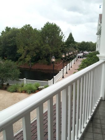 Disney's Beach Club Villas: View to right from balcony - room 260 - canal with walkway to parking area