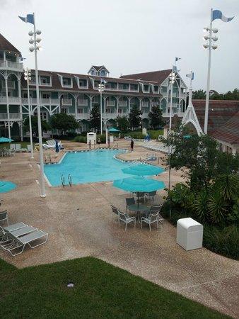 Disney's Beach Club Villas: View from balcony looking left - room 260