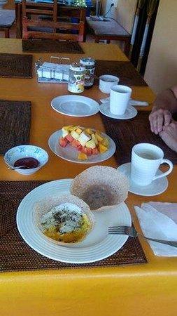White Villa Guesthouse: Egg Hoppers zum Frühstück