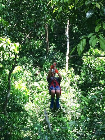 Chukka Caribbean Adventures in Belize: zip-lining was awesome!
