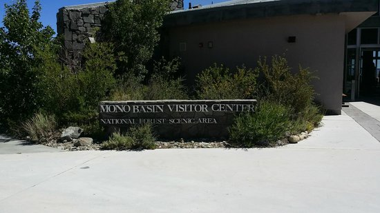 Mono Basin Scenic Area Visitor Center: The front of the Visitor Center