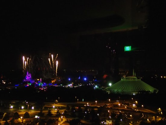 "California Grill: Start of ""wishes"" fireworks spectacular!"