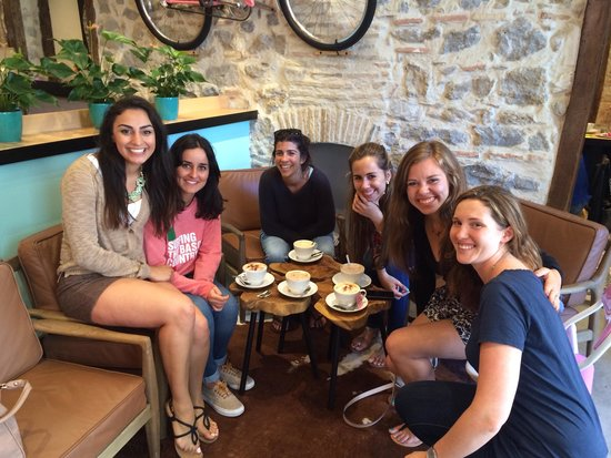 Milwaukee Cafe: Marquette Alumnae with the owner!