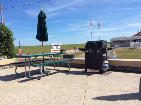 Sea View Motel : BBQ autour de la piscine