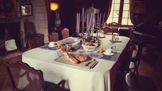 Château d'Hodebert : Le somptueux petit déjeuner