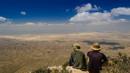 Guadalupe Peak: taking in the view...