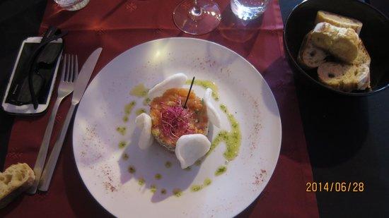 Le P'tit Resto: Lentil and salmon