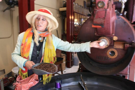 Local Tastes of the City Tours: Blandina explaining coffee roaster