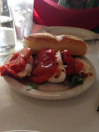 Marie's: Mozzarella, peppers and tomatoes.