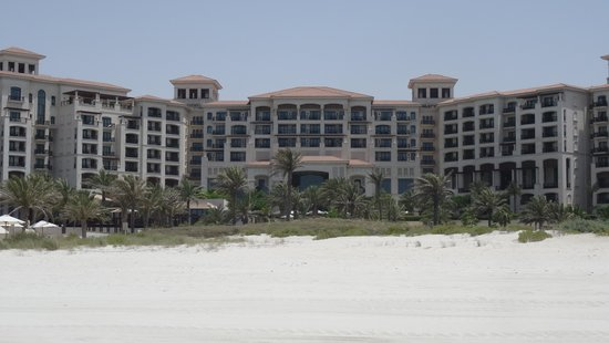 The St. Regis Saadiyat Island Resort: Hotel from the beach