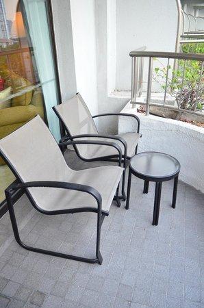 Shangri-La Hotel,Bangkok : Kungthep Wing. La terrasse