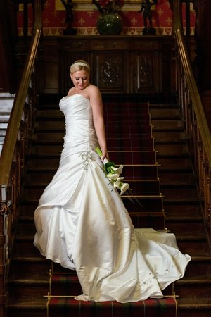 Sherbrooke Castle Hotel : Jillian on the wonderful staircase