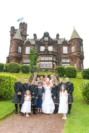 Sherbrooke Castle Hotel : Family pic outside