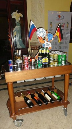 Ali Baba Palace: Drinks on sale when the football was on