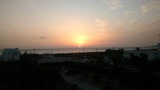 Auberge Du Marabout: sunset from balcony