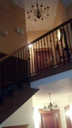 Main Street Manor: Staircase leading to my room