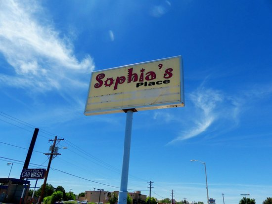 Sophia's Place: Outside sign