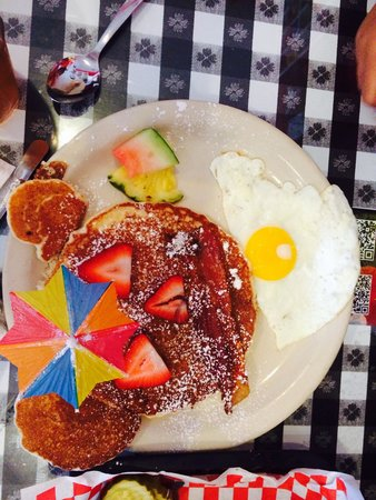 Joe's Diner: Kids pancakes with one egg!