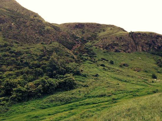 Arthur's seat, walking part of the valley