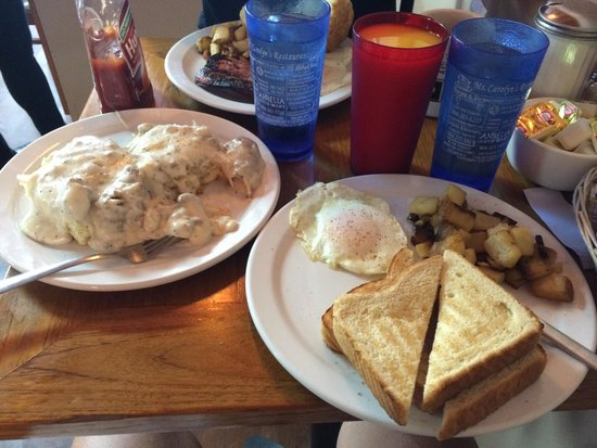 Ms. Carolyn's: Biscuits and gravy were worth the calories! Yummmmmmie!!!