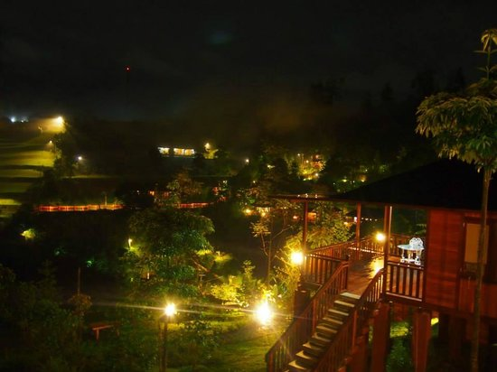 Kastuba Resort: View from our villa at night