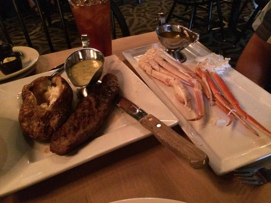 Thirsty Perch Grill: Crab legs and steak