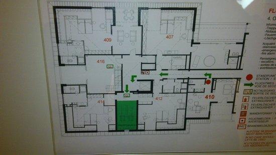 Lindner Hotel & Sporting Club Wiesensee: Zimmer 410, Teil des Etagenplans