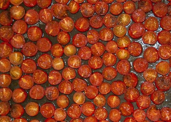 Tomatoes being roasted at Fairways Bed and Breakfast B&B in Crewkerne in Somerset