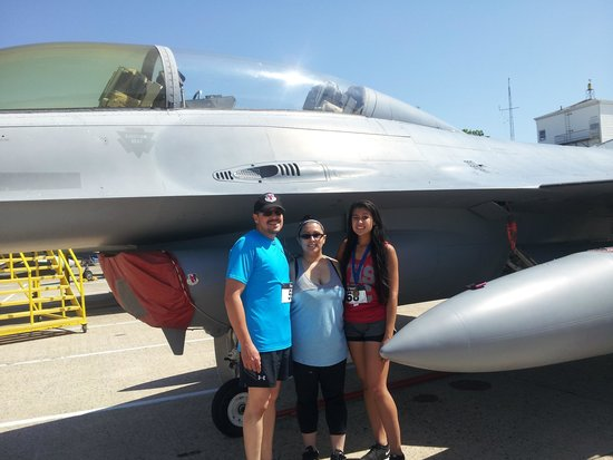 Naval Air Station Wildwood Aviation Museum: My kids & myself after the 5k