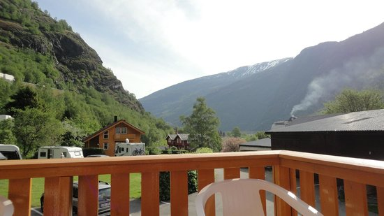 Flam Camping and Youth Hostel: Vue de la terrasse