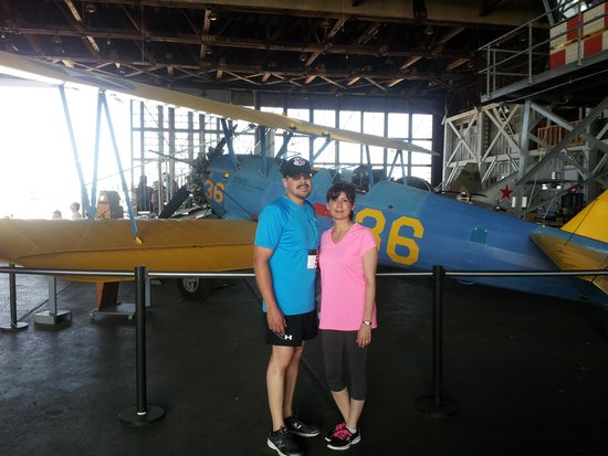 Naval Air Station Wildwood Aviation Museum: My wife & myself inside the hanger