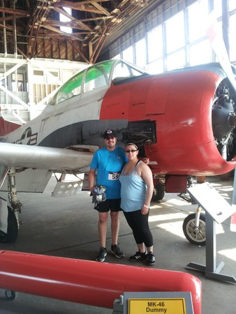 Naval Air Station Wildwood Aviation Museum: My duaghter & me inside the hanger