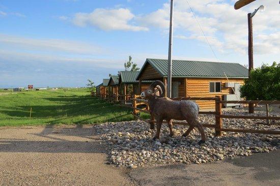 Frontier Cabins Motel: Entrance