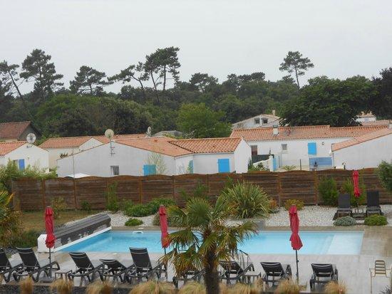 Hotel de Vert Bois : vue de notre chambre tres calme