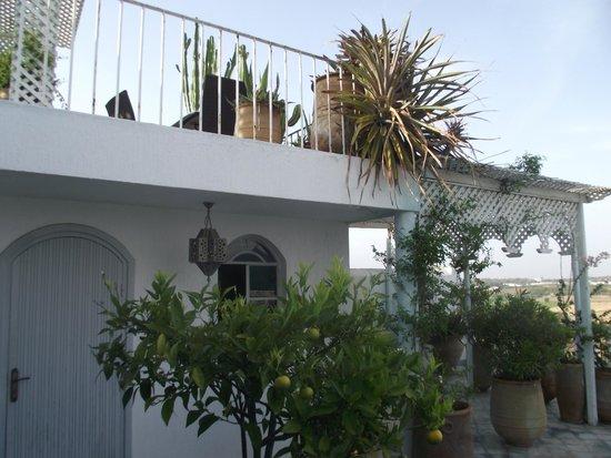 L'Oum Errebia: La terrasse devant notre chambre