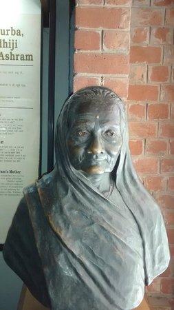 Sabarmati Ashram / Mahatma Gandhi's Home: Bust of Ba