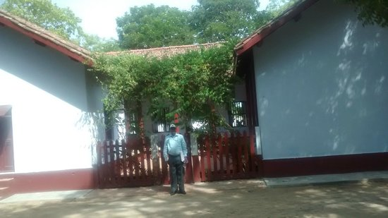 Sabarmati Ashram / Mahatma Gandhi's Home: Rear side of Mahatma's home